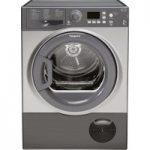 HOTPOINT Aquarius FTCF87BGG Condenser Tumble Dryer – Graphite, Graphite
