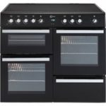 FLAVEL Milano 100 MLN10CRK Electric Range Cooker – Black & Chrome, Black