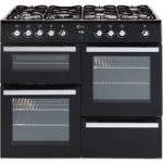 FLAVEL Milano 100 MLN10FRK Dual Fuel Range Cooker – Black & Chrome, Black
