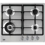 BEKO HCMW64225SX Gas Hob – Stainless Steel, Stainless Steel