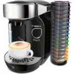 BOSCH TAS7002GB Caddy Hot Drinks Machine – Black & Chrome, Black