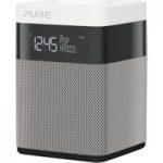 PURE Pop Mini Portable DABﱓ Clock Radio – Grey & White, Grey