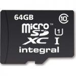 INTEGRAL UltimaPro Class 10 microSD Memory Card – 64 GB