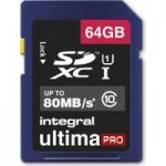 INTEGRAL UltimaPro Class 10 SDHC Memory Card – 64 GB
