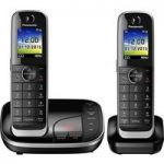 PANASONIC KX-TGJ322EB Cordless Phone with Answering Machine – Twin Handsets