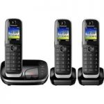 PANASONIC KX-TGJ323EB Cordless Phone with Answering Machine – Triple Handset