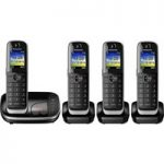 PANASONIC KX-TGJ324EB Cordless Phone with Answering Machine – Quad Handsets