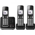 PANASONIC KX-TGD323EB Cordless Phone with Answering Machine – Triple Handsets