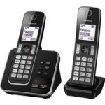 PANASONIC KX-TGD322EB Cordless Phone with Answering Machine – Twin Handsets
