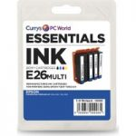 ESSENTIALS Epson Cyan, Magenta, Yellow & Black Ink Cartridges – Multipack, Cyan