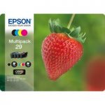 EPSON Strawberry 29 Cyan, Magenta, Yellow & Black Ink Cartridges – Multipack, Cyan