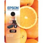 EPSON No. 33 Oranges XL Black Ink Cartridge, Black