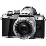 OLYMPUS E-M10 Mark II Compact System Camera with 14-42 mm f/3.5-5.6 Zoom Lens – Silver, Silver