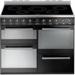 SMEG Symphony SYD4110IBL 110 cm Electric Induction Range Cooker – Black & Stainless Steel, Stainless Steel