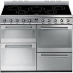 SMEG Symphony 110 cm Electric Induction Range Cooker – Stainless Steel, Stainless Steel