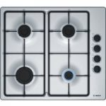 BOSCH PBP6B5B60 Gas Hob – Stainless Steel, Stainless Steel
