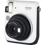 FUJIFILM Instax Mini 70 Instant Camera – 10 Shots Included, White, White