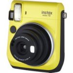 FUJIFILM Instax Mini 70 Instant Camera – 10 Shots Included, Yellow, Yellow