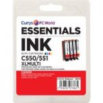 ESSENTIALS PGI 550XL & 551XL 4-colour Canon Ink Cartridges – Multipack
