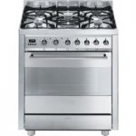 SMEG C7GPX8 70 cm Dual Fuel Range Cooker – Stainless Steel, Stainless Steel