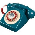 WILD & WOLF 746 Corded Phone – Petrol Blue, Petrol