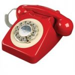WILD & WOLF 746 Corded Phone – Phone Box Red, Red