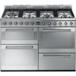 SMEG Symphony SYD4110 110 cm Dual Fuel Range Cooker – Stainless Steel, Stainless Steel
