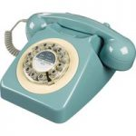 WILD & WOLF 746 Corded Phone – French Blue, Blue