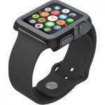 SPECK CandyShell Fit SPK-A4134 38 mm Apple Watch Case – Black & Slate Grey, Black