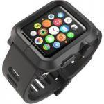 LUNATIK EPIK-001 Apple Watch Polycarbonate Case & Silicone Strap – Black, Black
