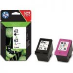 HP 62 Black & Tri-colour Ink Cartridges – Twin Pack, Black