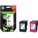 HP 301 Black & Tri-colour Ink Cartridges – Twin Pack, Black