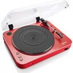 LENCO L-85 Turntable – USB, Red, Red