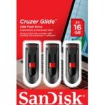 SANDISK Cruzer Glide USB 2.0 Memory Stick – 16 GB, Pack of 3