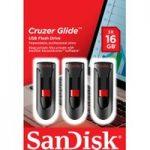 SANDISK Cruzer Glide USB 2.0 Memory Stick – 16 GB, Pack of 3