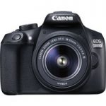 CANON EOS 1300D DSLR Camera with 18-55 mm f/3.5-f/5.6 Zoom Lens – Black, Black