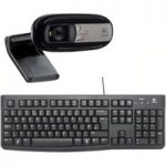 LOGITECH Full HD Webcam, Wireless Keyboard & Mouse Bundle