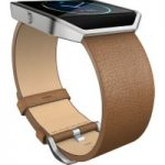 FITBIT Blaze Leather Accessory Band – Large, Camel