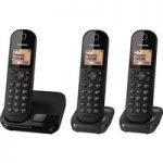 PANASONIC KX-TGC413EB Cordless Phone – Triple Handsets
