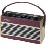 ROBERTS Rambler Portable DABﱓ Clock Radio – Burgundy
