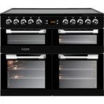 LEISURE Cuisinemaster CS100C510K 100 cm Electric Range Cooker – Black & Stainless Steel, Stainless Steel