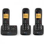 BT XD56 Cordless Phone with Answering Machine – Triple Handsets