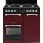 LEISURE Cookmaster CK90F232R Dual Fuel Range Cooker – Red, Red