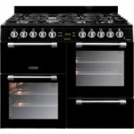 LEISURE Cookmaster CK100G232K 100 cm Gas Range Cooker – Black & Chrome, Black