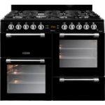 LEISURE Cookmaster CK100G232K 100 cm Gas Range Cooker – Black & Chrome, Black