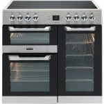 LEISURE Cuisinemaster CS90C530X Electric Ceramic Range Cooker – Stainless Steel, Stainless Steel