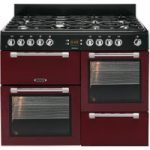 LEISURE Cookmaster CK110F232R Dual Fuel Range Cooker – Red & Chrome, Red