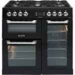 LEISURE Cuisinemaster CS90F530K Dual Fuel Range Cooker – Black & Chrome, Black