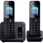 PANASONIC KX-TG8182EB Cordless Phone with Answering Machine – Twin Handsets