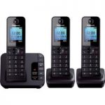 PANASONIC KX-TG8183EB Cordless Phone with Answering Machine – Triple Handsets
